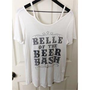 New Zoe & liv medium belle of the beer bash tshirt